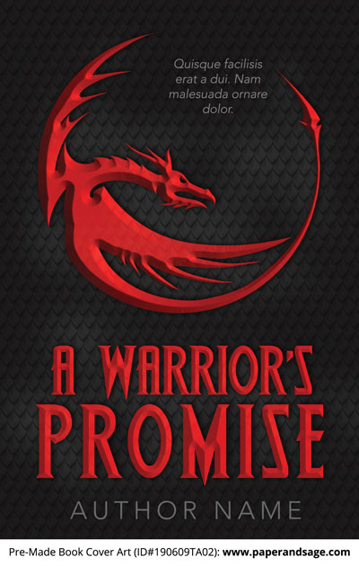 Pre-Made Book Cover ID#190609TA02 (A Warrior's Promise)