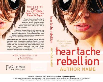 Pre-Made Book Cover ID#190701TA01 (Heartache Rebellion)