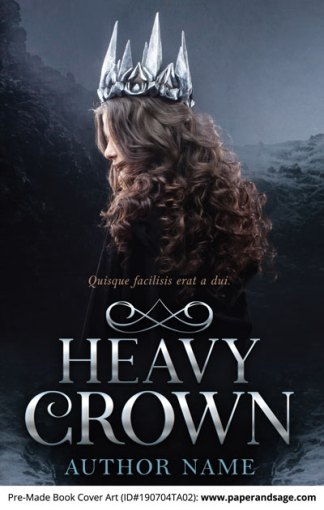 Pre-Made Book Cover ID#190704TA02 (Heavy Crown)