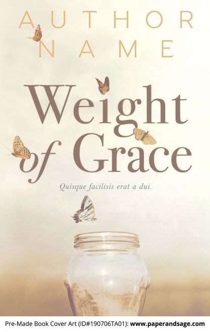 Pre-Made Book Cover ID#190706TA01 (Weight of Grace)