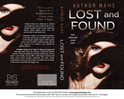 Pre-Made Book Cover ID#190713TA01 (Lost and Found)