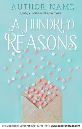 Pre-Made Book Cover ID#190715TA01 (A Hundred Reasons)