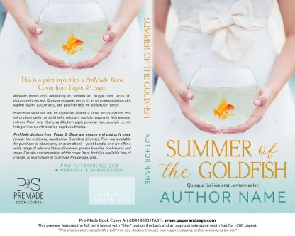 Pre-Made Book Cover ID#190801TA01 (Summer of the Goldfish)