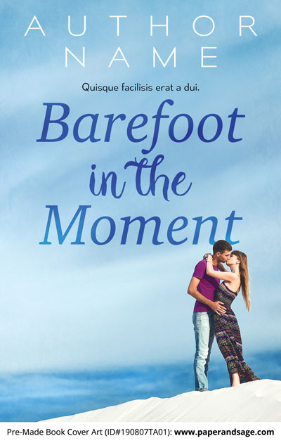 Pre-Made Book Cover ID#190807TA01 (Barefoot in the Moment)