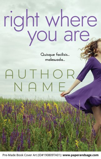 Pre-Made Book Cover ID#190809TA01 (Right Where You Are)