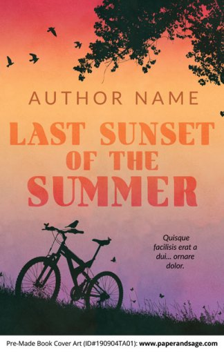 Pre-Made Book Cover ID#190904TA01 (Last Sunset of the Summer)