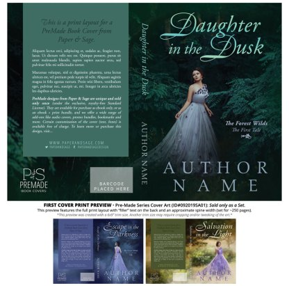 PreMade Series Covers ID#092019SA01 (The Forest Wilds Series, Only Sold as a Set)