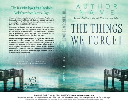 Pre-Made Book Cover ID#190907TA01 (The Things We Forget)