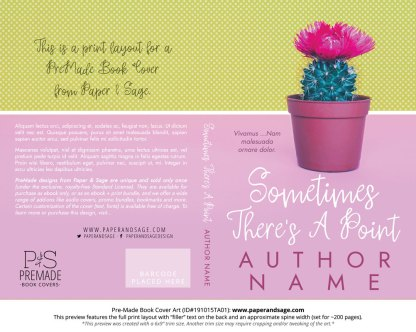Pre-Made Book Cover ID#191015TA01 (Sometimes There's a Point)