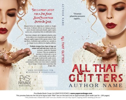 Pre-Made Book Cover ID#191016TA01 (All That Glitters)