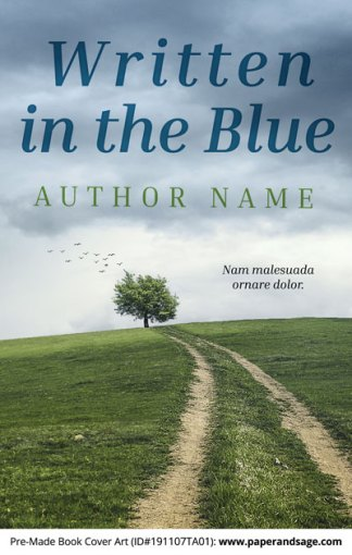 Pre-Made Book Cover ID#191107TA01 (Written in the Blue)