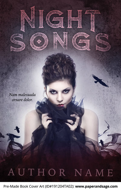 Pre-Made Book Cover ID#191204TA02 (Night Songs)