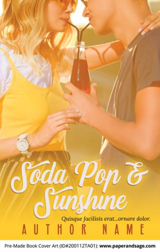 Pre-Made Book Cover ID#200112TA01 (Soda Pop and Sunshine)