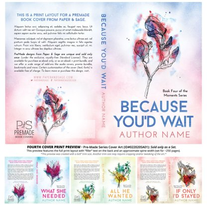 PreMade Series Covers ID#022020SA01 (The Moments Series, Only Sold as a Set)