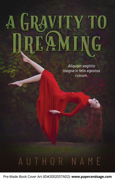 Pre-Made Book Cover ID#200205TA02 (A Gravity to Dreaming)