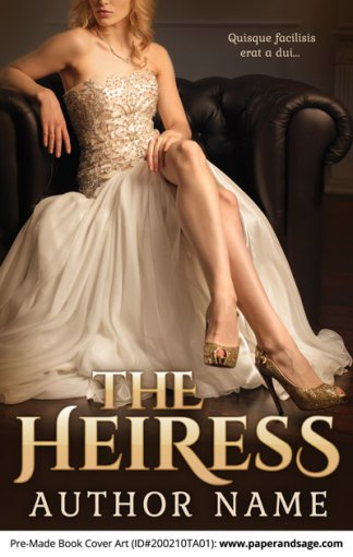 Pre-Made Book Cover ID#200210TA01 (The Heiress)