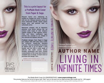 Pre-Made Book Cover ID#200303TA01 (Living in Infinite Times)