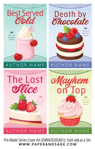 PreMade Series Covers ID#042020SA01 (The Just Desserts Series, Only Sold as a Set)