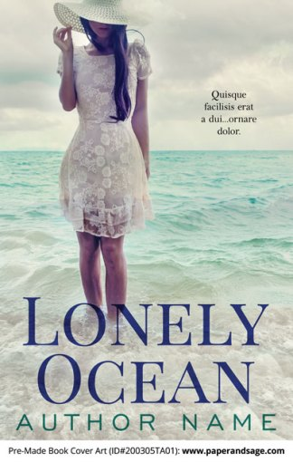 Pre-Made Book Cover ID#200305TA01 (Lonely Ocean)