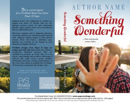 Pre-Made Book Cover ID#200310TA01 (Something Wonderful)