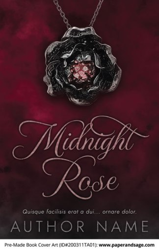Pre-Made Book Cover ID#200311TA01 (Midnight Rose)