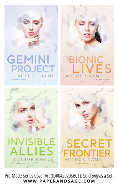 PreMade Series Covers ID#042020SB01 (The Gemini Series, Only Sold as a Set)