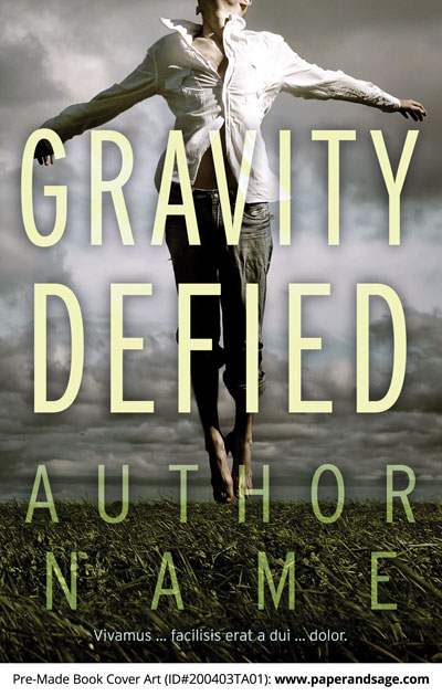 Pre-Made Book Cover ID#200403TA01 (Gravity Defied)