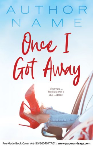 Pre-Made Book Cover ID#200404TA01 (Once I Got Away)