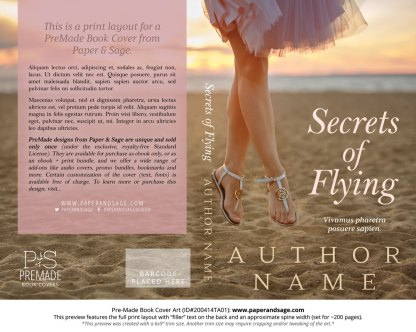 Pre-Made Book Cover ID#200414TA01 (Secrets of Flying)