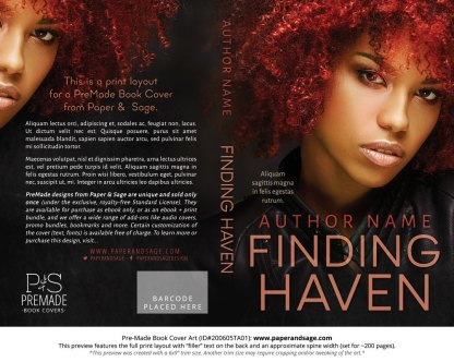 Pre-Made Book Cover ID#200605TA01 (Finding Haven)