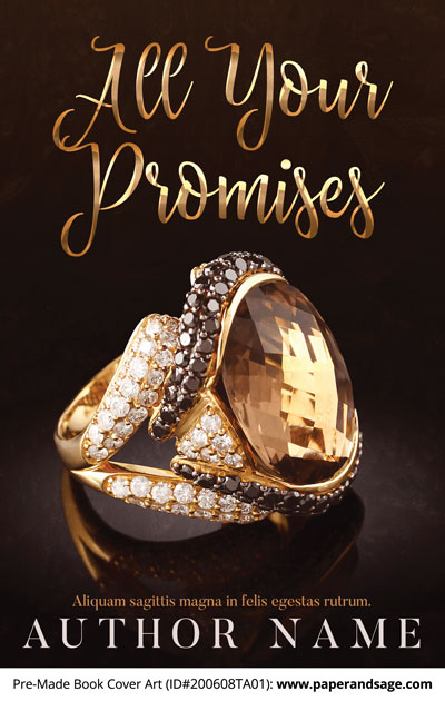 Pre-Made Book Cover ID#200608TA01 (All Your Promises)