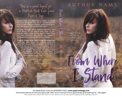 Pre-Made Book Cover ID#200612TA01 (From Where I Stand)