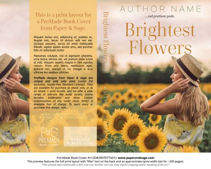 Pre-Made Book Cover ID#200707TA01 (Brightest Flowers)