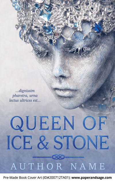 Pre-Made Book Cover ID#200712TA01 (Queen of Ice and Stone)