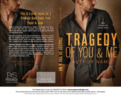 Pre-Made Book Cover ID#200713TA01 (Tragedy of You and Me)