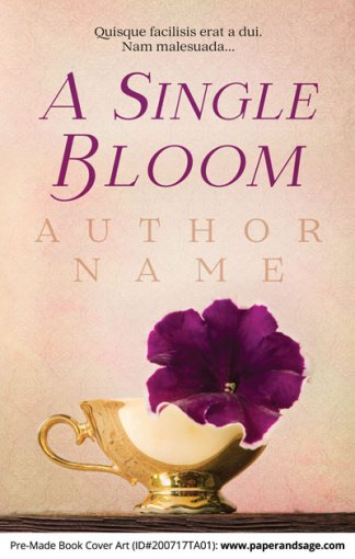 Pre-Made Book Cover ID#200717TA01 (A Single Bloom)