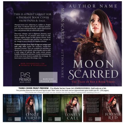 PreMade Series Covers ID#082020SA02 (Tales of Red Series, Only Sold as a Set)