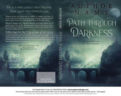 Pre-Made Book Cover ID#200810TA02 (Path Through Darkness)