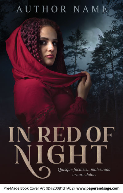 Pre-Made Book Cover ID#200813TA02 (In Red of Night)
