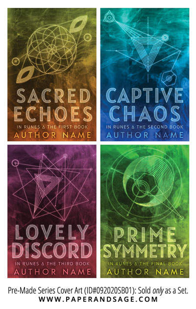 PreMade Series Covers ID#092020SB01 (In Runes Series, Only Sold as a Set)