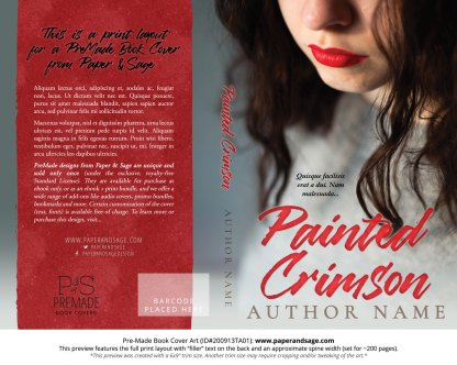 Pre-Made Book Cover ID#200913TA01 (Painted Crimson)