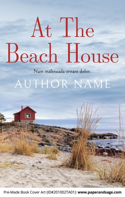 Pre-Made Book Cover ID#201002TA01 (At the Beach House)