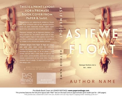 Pre-Made Book Cover ID#201005TA02 (As If We Float)