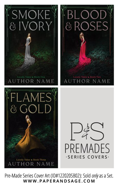PreMade Series Covers ID#122020SB02 (Lovely Tales Series, Only Sold as a Set)