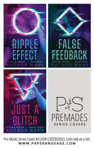 PreMade Series Covers ID#122020SD02 (Glitch Series, Only Sold as a Set)