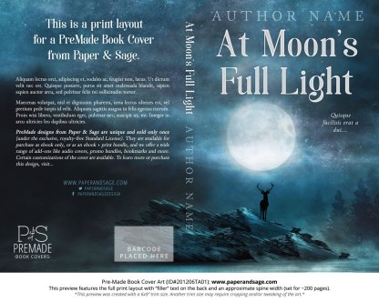 Pre-Made Book Cover ID#201206TA01 (At Moon's Full Light)