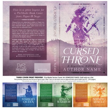 PreMade Series Covers ID#022021SA02 (Starborn Series, Only Sold as a Set)