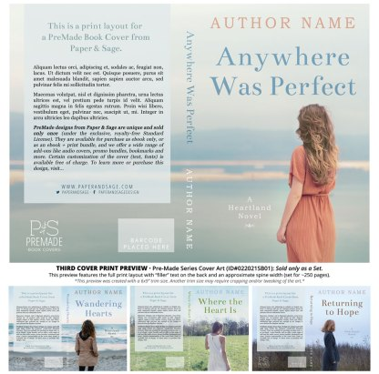 PreMade Series Covers ID#022021SB01 (Heartland Series, Only Sold as a Set)