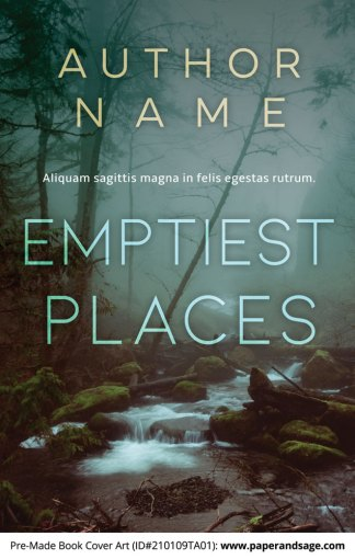 Pre-Made Book Cover ID#210109TA01 (Emptiest Places)