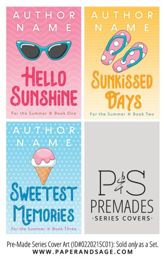 PreMade Series Covers ID#022021SC01 (For the Summer Series, Only Sold as a Set)